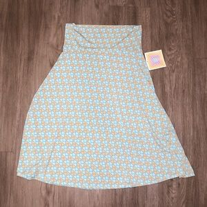 LulaRoe Blue Zig Zag Patterned Azure Skirt